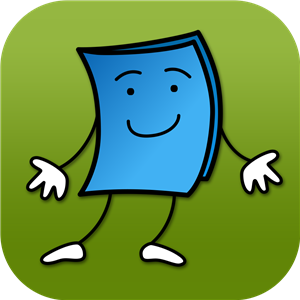 Blue page icon