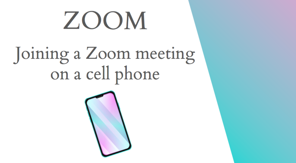 Joining a Zoom meeting on a cell phone English
